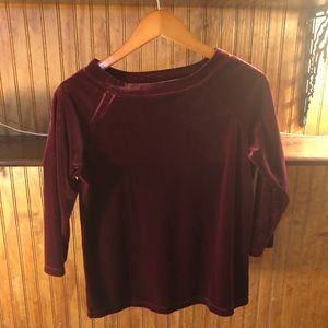 Newport News Other - Maroon velvet top and skirt set